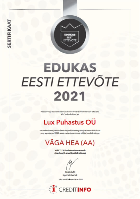 Koristusfirma, koristusfirmad kontori koristus - Lux Puhastus OÜ